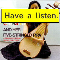 Cheng Yu and her 5-stringed pipa